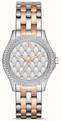 Armani Exchange Mesdames or rose et montre en argent AX5249