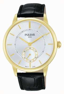 Pulsar Bracelet en cuir noir pour homme PN4042X1