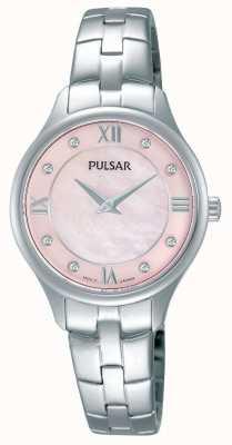 Pulsar Womens mère rond rose cadran nacre PM2197X1