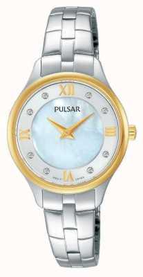 Pulsar Womens mère rond blanc du cadran nacre PM2198X1