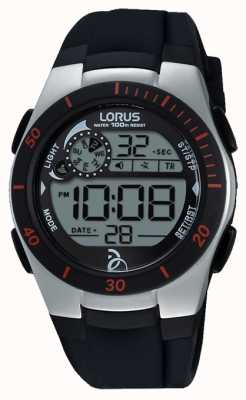 Lorus fondation Novak bracelet en silicone noir numérique R2375KX9