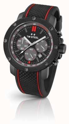 TW Steel Mens acier technologie chronographe noir TS6