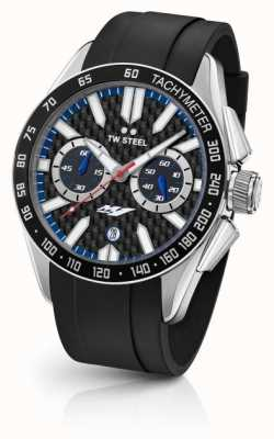TW Steel Mens yamaha bracelet en silicone noir GS1