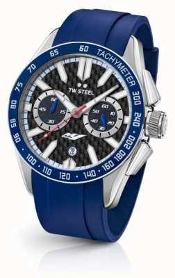TW Steel Mens yamaha bracelet en silicone bleu GS3