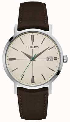 Bulova Mens Aerojet bracelet en cuir brun 96B242
