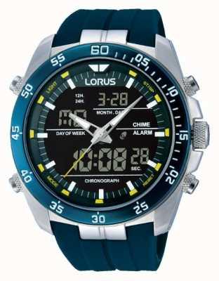 Lorus Alarme numérique pour homme en acier inoxydable RW617AX9