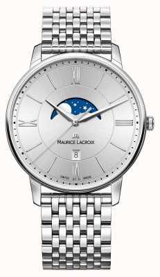 Maurice Lacroix cadran argenté Mens bracelet en métal argenté EL1108-SS002-110-1
