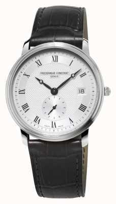 Frederique Constant Slimline mens verre saphir bracelet en cuir noir FC-245M4S6