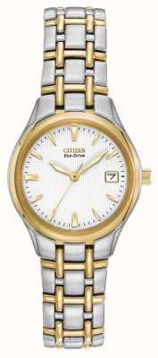 Citizen Cas Ladies deux tons en acier inoxydable et bracelet EW1264-50A