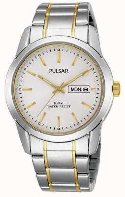 Pulsar Mens quartz double veille de tonalité PJ6023X1