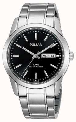 Pulsar | hommes | jour noir date cadran | bracelet en acier inoxydable | PJ6021X1