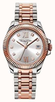 Thomas Sabo Womans cadran bracelet en argent en acier inoxydable WA0219-272-201-33