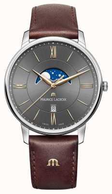 Maurice Lacroix bracelet en cuir brun de Mens EL1108-SS001-311-1