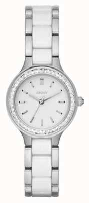 DKNY Womans bracelet en acier cadran blanc en céramique NY2494