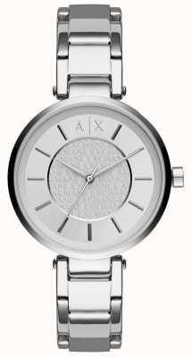 Armani Exchange Womens cadran argenté en acier inoxydable AX5315