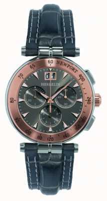 Michel Herbelin Bracelet cuir gris homme cadran gris 36657/TR22GR