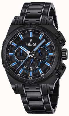 Festina 2016 mens chronobike montre chronographe bleu et noir F16969/2