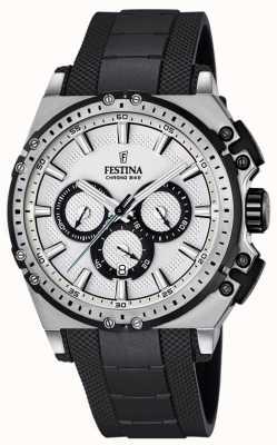 Festina montre Chronobike chronographe mens cadran argenté F16970/1