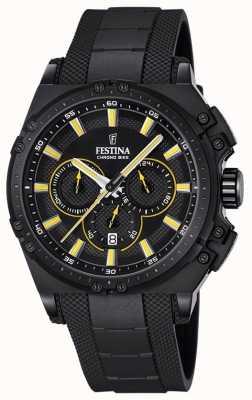 Festina 2016 hommes de la montre chronographe jaune et noir F16971/3