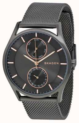 Skagen Mens plaqué pvd holst gun metal SKW6180