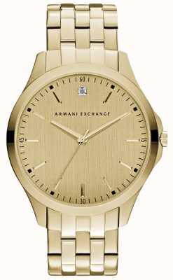 Armani Exchange Mens hampton cadran en or élégant AX2167