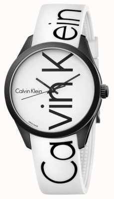 Calvin Klein couleur unisexe silicone blanc logo noir K5E51TK2