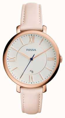Fossil Womens blush jacqueline bracelet en cuir ES3988