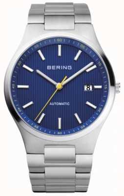 Bering Mens cadran bleu en acier inoxydable automatique 13641-707