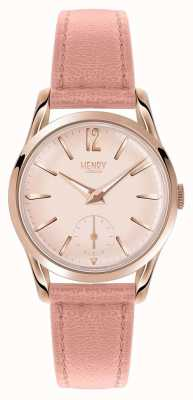 Henry London Bracelet en cuir rose rose pour femme HL30-US-0154