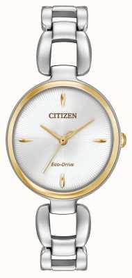 Citizen Womens bracelet en acier inoxydable deux tons EM0424-53A
