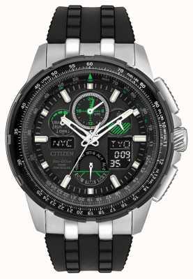 Citizen Mens skyhawk à la radio contrôlée bracelet en caoutchouc noir JY8051-08E