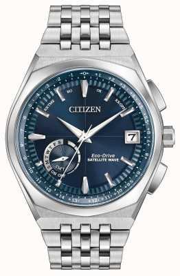 Citizen le temps du monde d'onde satellite gps cadran bleu CC3020-57L