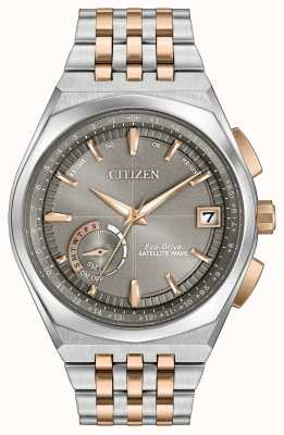 Citizen Mens wave satellite éco-voiture gps deux tons CC3026-51H