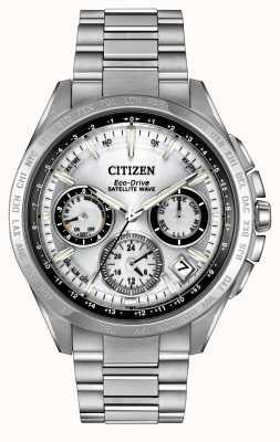 Citizen Mens eco-drive satellite argent f900 d'onde CC9010-74A
