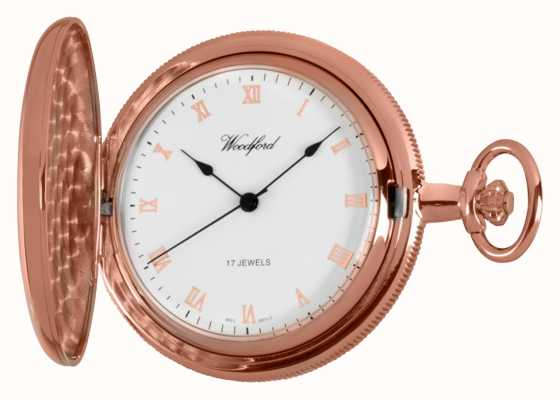 Woodford hunter pleine rose montre de poche en or 1091