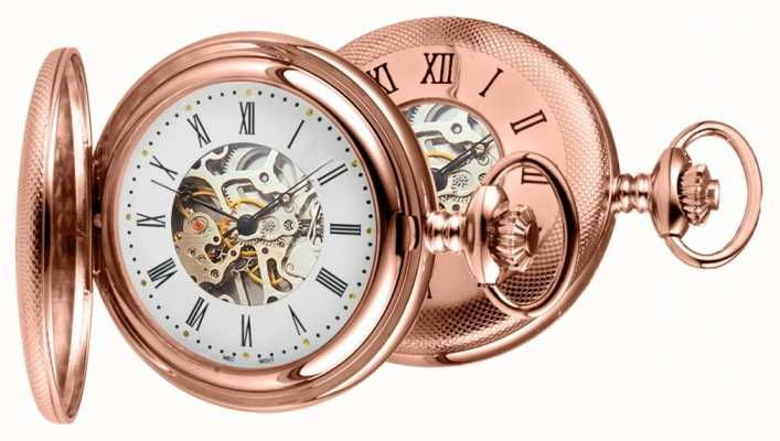 Woodford Montre de poche en or rose 1092
