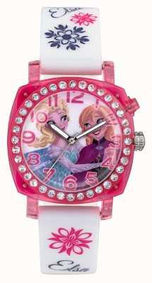 Disney Frozen Elsa et anna lightup étui rose bracelet en silicone blanc FZN3789