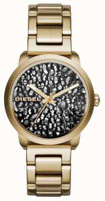 Diesel plaqué or Womans cadran bracelet en acier inoxydable à motifs DZ5521
