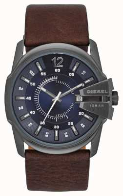 Diesel Maillot en cuir bleu en cuir marron DZ1618