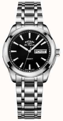 Rotary Mens les originales en acier inoxydable héritage GB90173/04