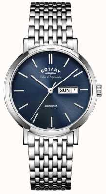 Rotary Mens les originales en acier inoxydable windsor GB90153/05