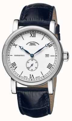 Muhle Glashutte Teutonia iii handaufzug kleine sekunde bracelet en cuir blanc cadran M1-08-11-LB