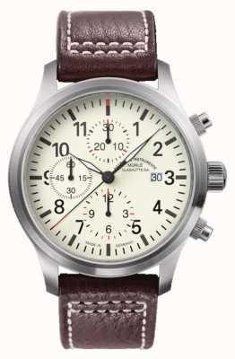 Muhle Glashutte Terrasport cadran crème de bracelet en cuir i Chronographe M1-37-77-LB