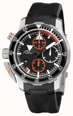Muhle Glashutte Sar flieger-chronographe bande de caoutchouc indien cadran noir M1-41-33-KB