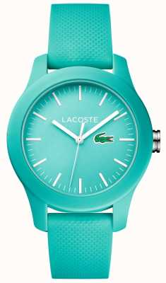 Lacoste Womens 12,12 turquoise silicone 2000958