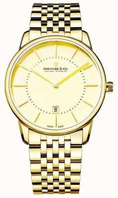 Dreyfuss Mens Bracelet en or avec la date DGB00136/03