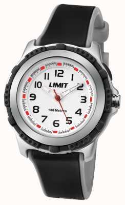 Limit cadran blanc noir bracelet en résine enfants actifs 5597.24