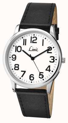 Limit Cadran blanc à bracelet noir 5608.35