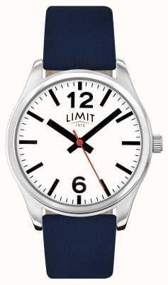 Limit Cadran blanc à bracelet bleu 5627.01