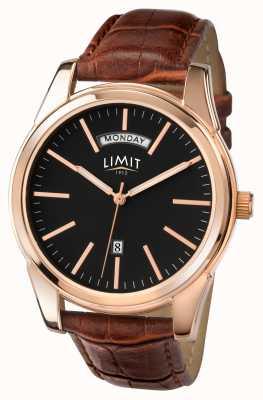 Limit Bracelet homme marron cadran noir 5484.01